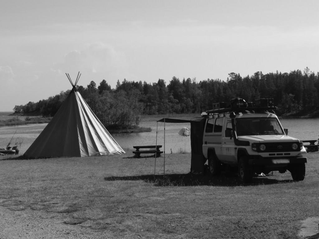 Station im Samencamp am Inarijärvi